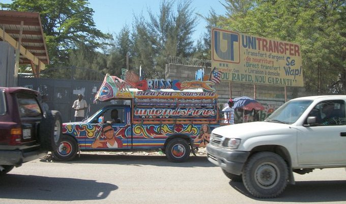 jitney in haiti traffic