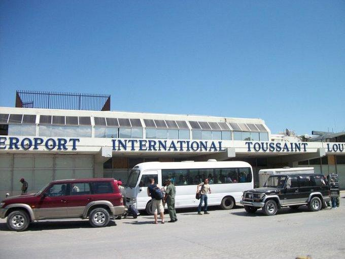 outside the Haiti airport